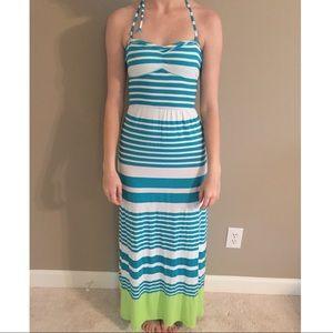 Aeropostale Halter/Strapless Maxi Dress